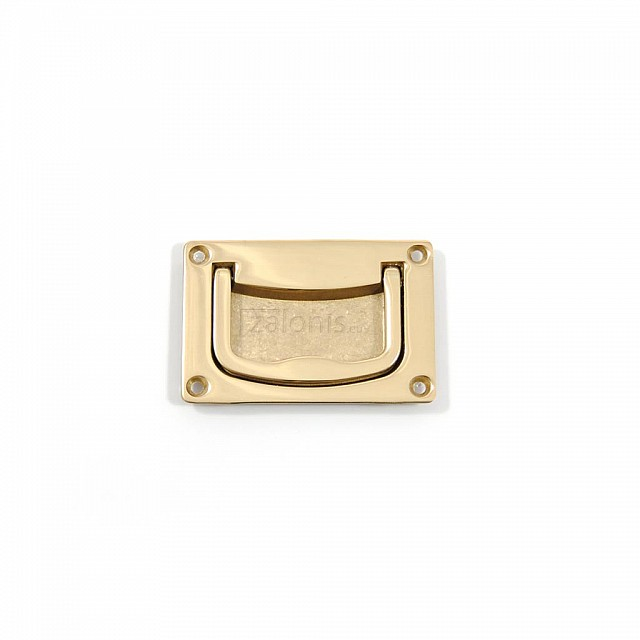 BRASS CHEST HANDLE 50x70  / GOLD PLATED